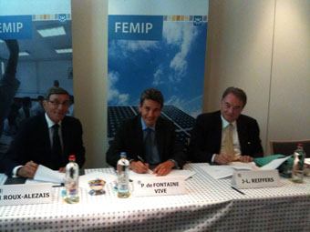 Signature de la convention renforce BEI-Femise