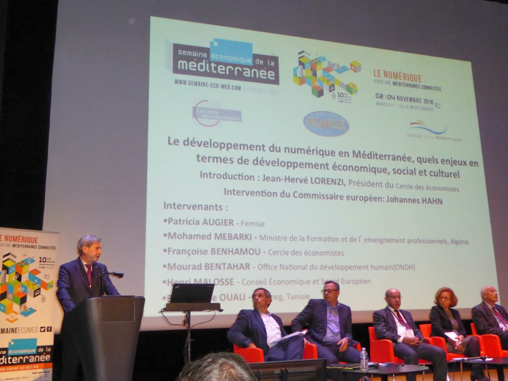 Introductory speech by Johannes Hahn, EU Commissioner for European Neighbourhood Policy and Enlargement Negotiations, Rendez Vous Economiques de la Méditerranée, Marseille, Villa Méditerranée, November 3rd (photo by Robert Kao)