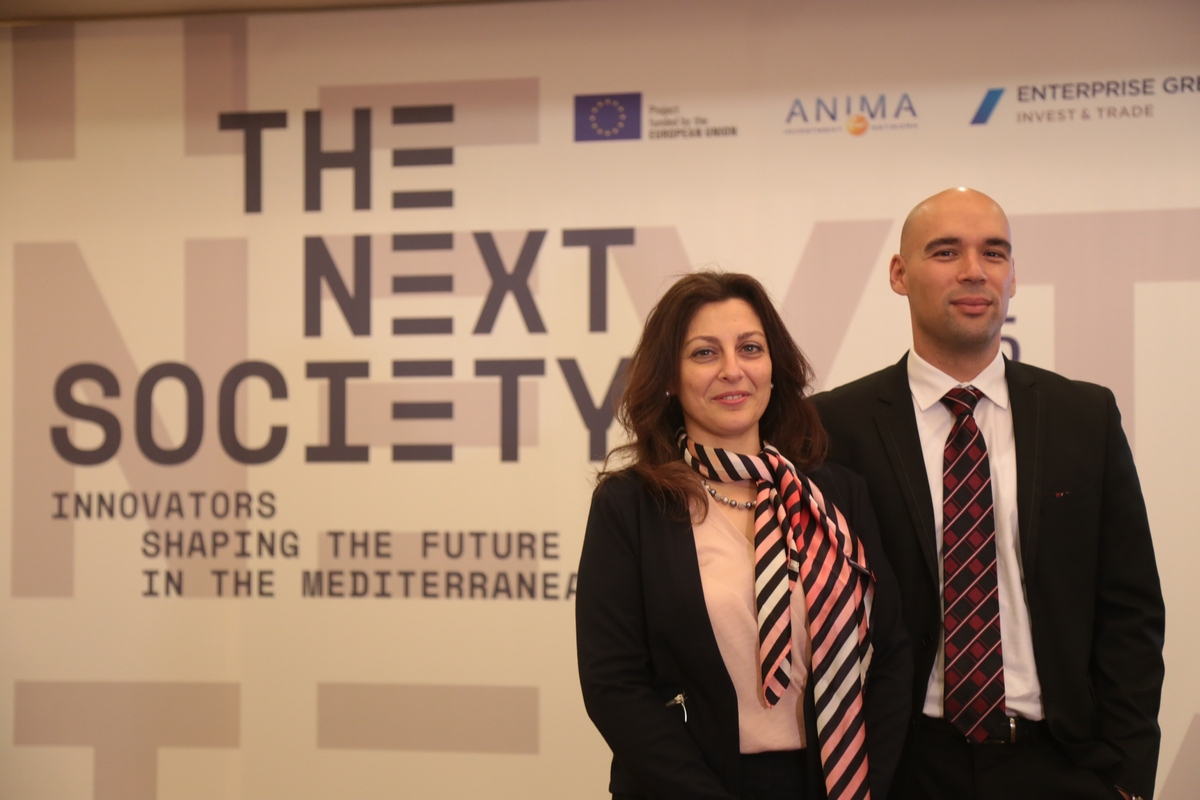 Dr Maryse Louis (General Manager FEMISE, Programs Manager Economic Research Forum) and Dr Constantin Tsakas (General Secretary FEMISE, General Manager Institut de la Méditerranée)